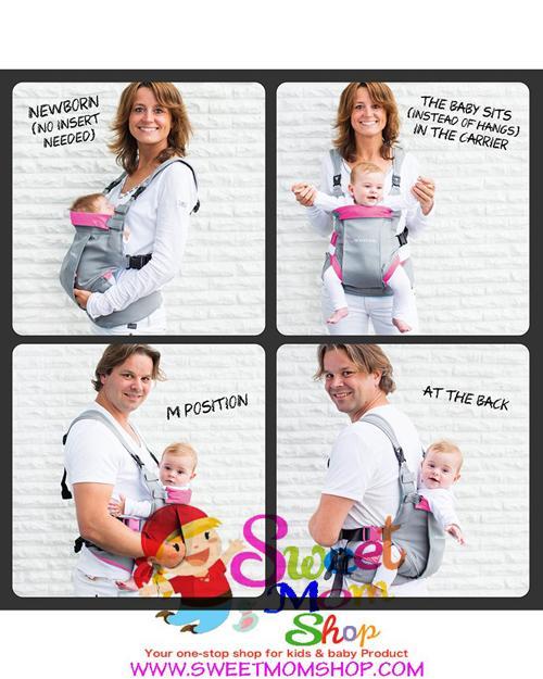 c57c09ebe54 Mini Monkey Dynamic Baby Carrier ( Black Grey ) »» Sweet Mom Shop ...