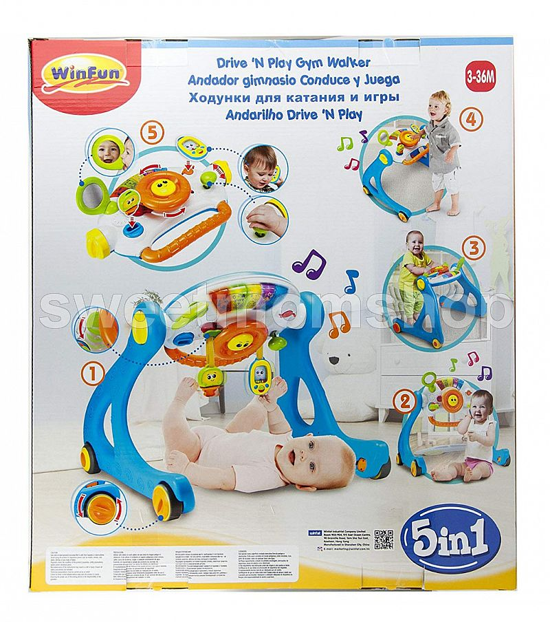 Winfun 5 in 1 Driver Play Gym Walker