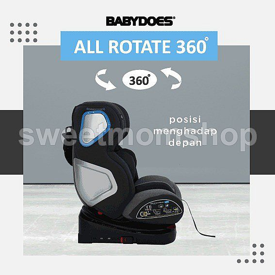 Babydoes carseat all rotate 360- GREY